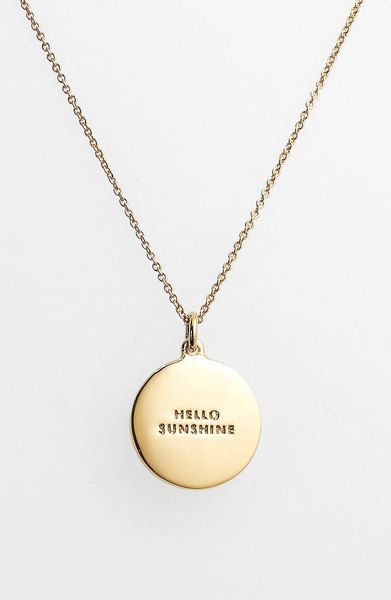 Kate Spade Idiom Reversible Pendant Necklace in Yellow (hello sunshine- yellow/ gold) - Lyst