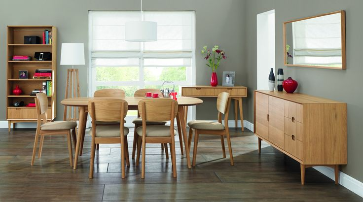 Buy the Oslo Oak Extending Dining Table with 6/8 Veneered Back Chairs at Oak Furniture Superstore