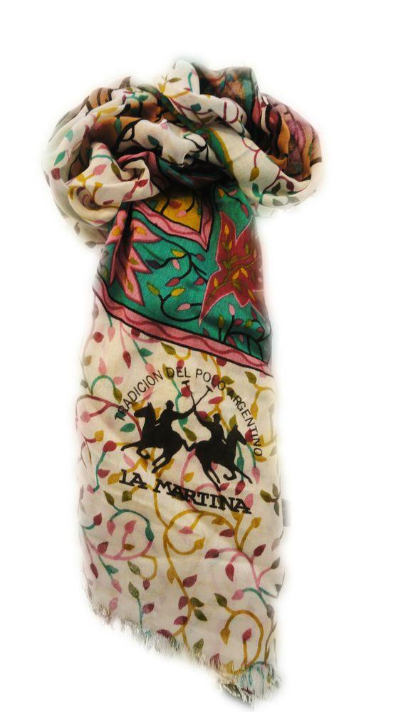 La Martina Polo Foulard Donna sciarpa leggera Invernale shop 2016 regalo natale