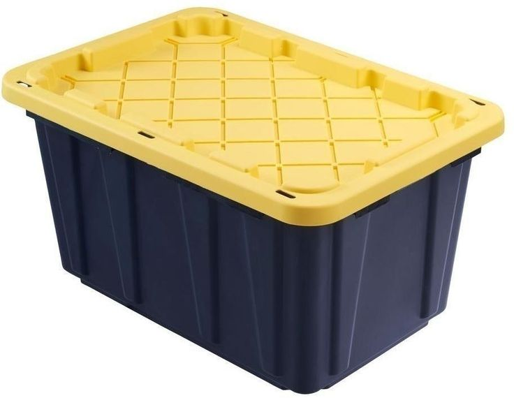 HDX Large Plastic Storage Tote Box Container Organizer Bin, 27 Gal Garage  #ShelvesLLC