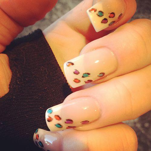 animal print nails = cute