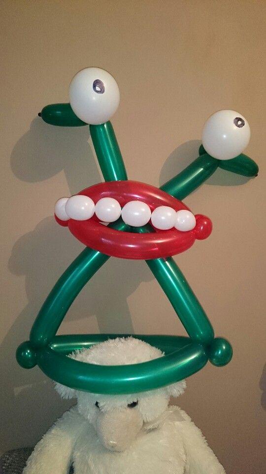 balloon hat monster balonowelove - Halloween Balloon Animals