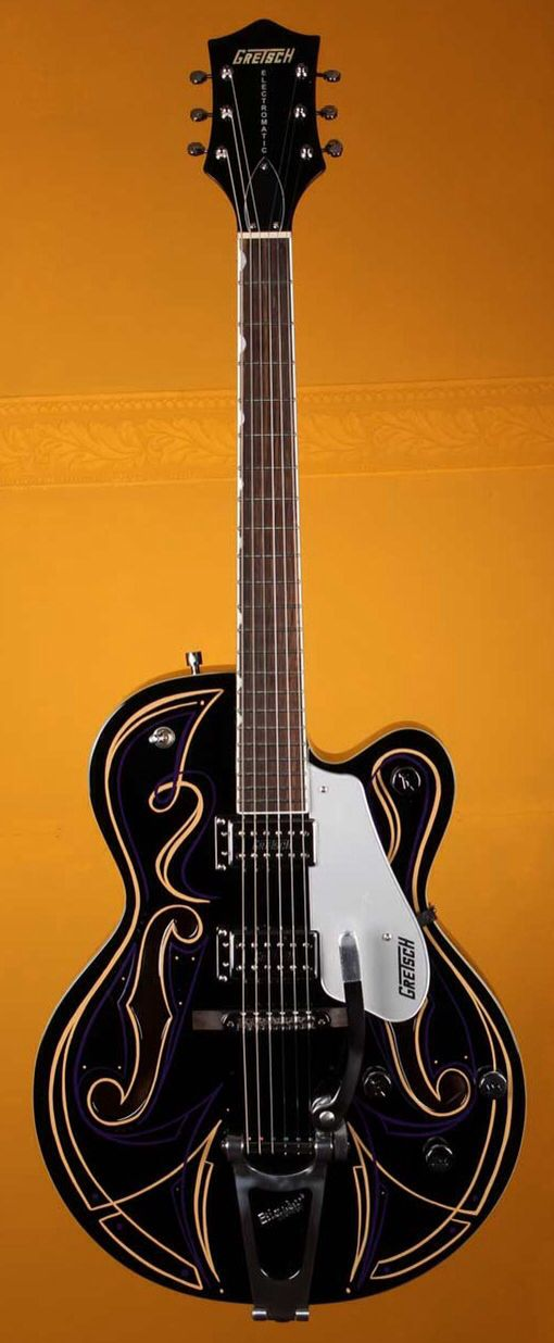 gretsch limited edition g5120t custom pinstripe electric guitar black 36 small white mouse. Black Bedroom Furniture Sets. Home Design Ideas