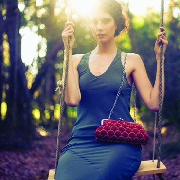 gorgeous @lydra metal purses, now available at ecobella