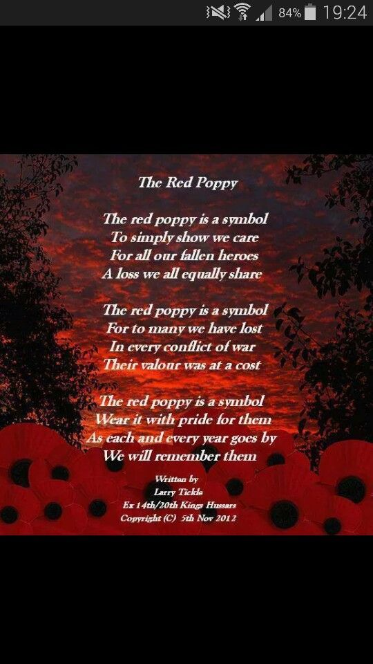 Rememberance Poem