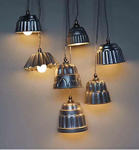 diy light fixtures using repurposed objects | Recycled Pendent Lights