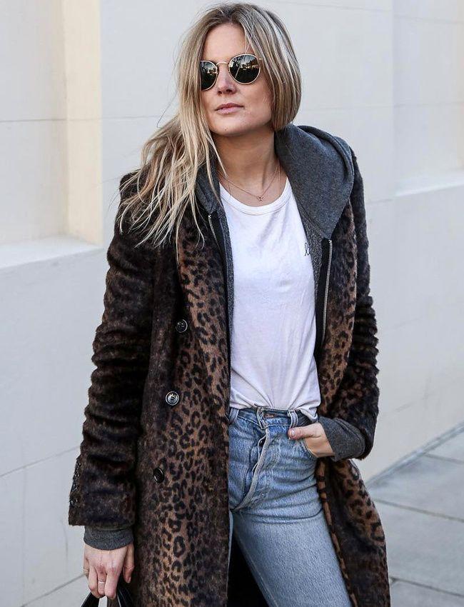 Oui au manteau léopard porté en mode streetwear ! (manteau Uniqlo - instagram Lucy Williams)