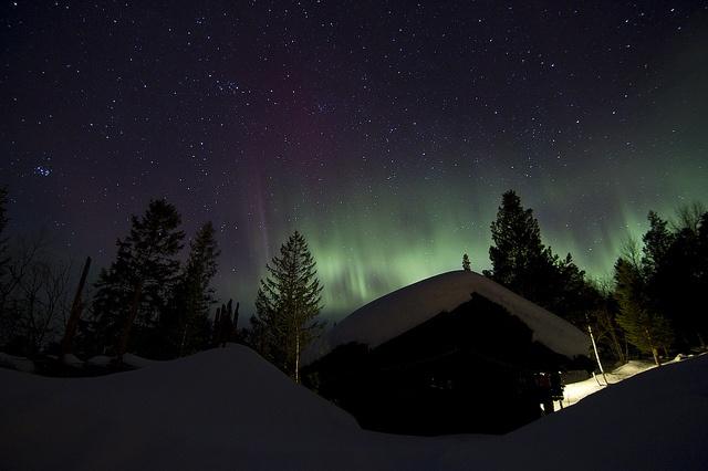 Start of timelapse shot of Aurora Borealis at Oppdal, Norway.