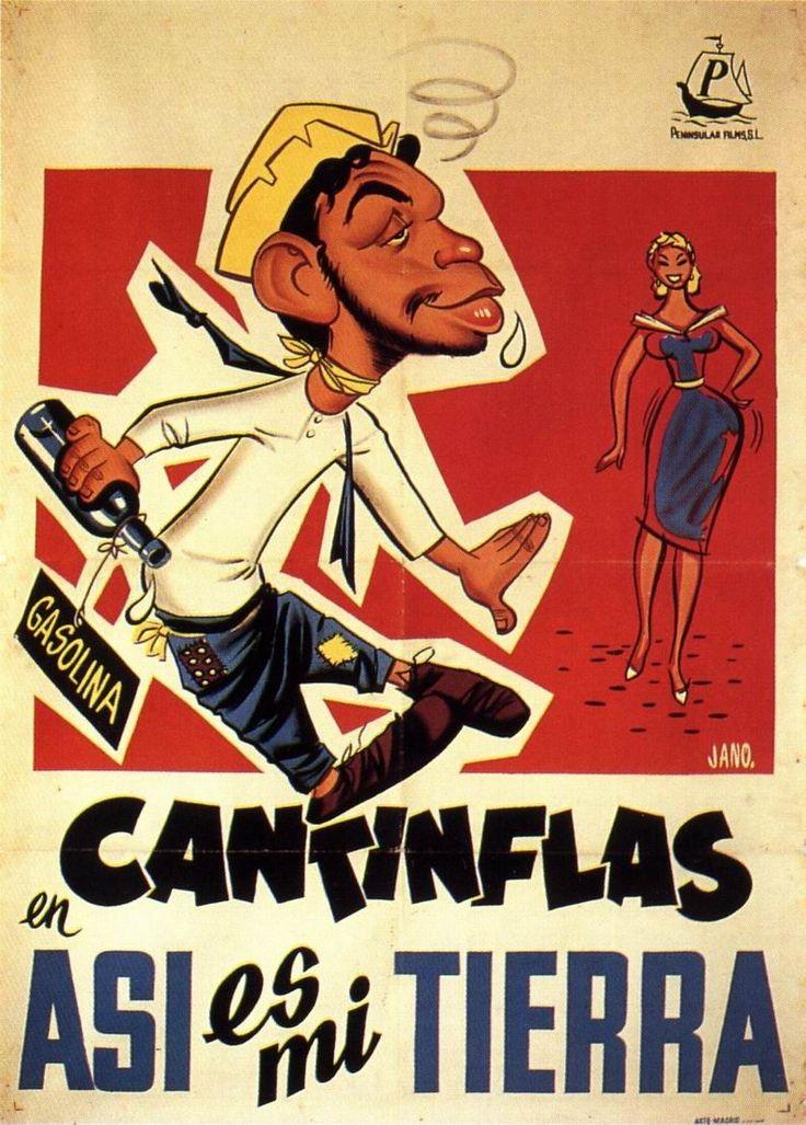 Conmemoramos el aniversario de natalicio del gran cómico mexicano Mario Moreno #Cantinflas, les comparto el poster de su película Así es mi Tierra