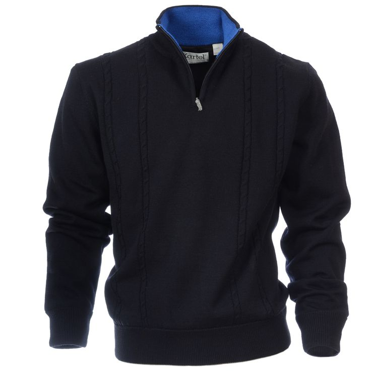 #golf sweater with windproof lining, accent colour detail on the collar