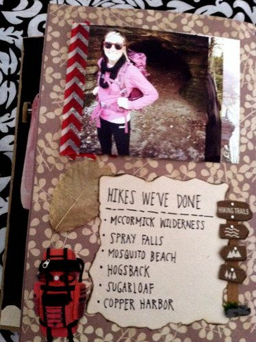 Hikes We've Done | Flickr - Photo Sharing! her smash book for her boyfriend is completely adorable! This is such a great idea!