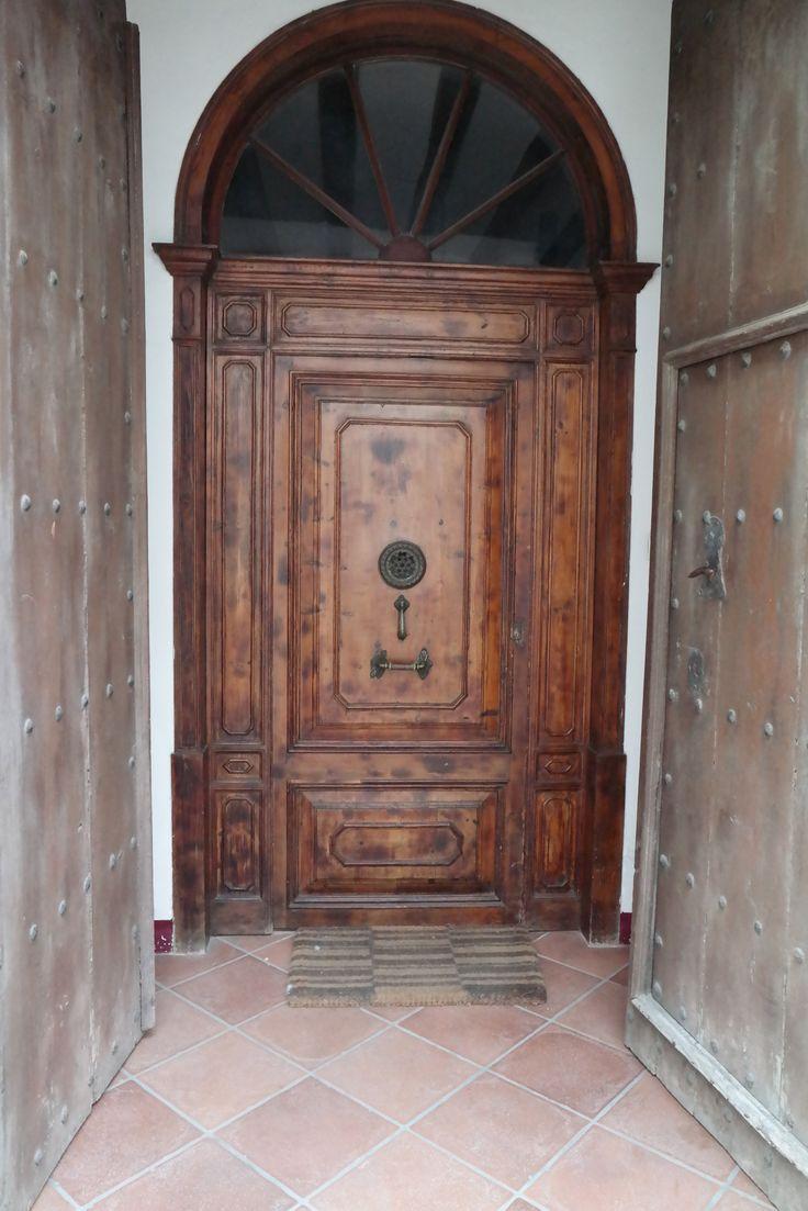Bruine deur
