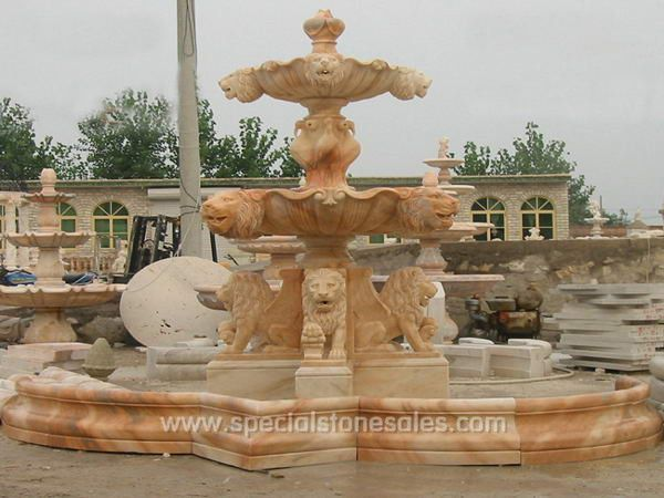 2014 Natural Marble Stone Fountain Red Marble Garden Water Fountains Sales  UK
