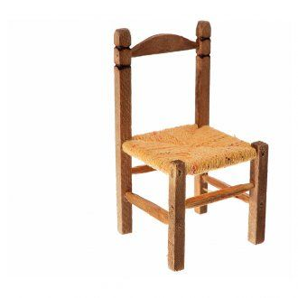 Sedia impagliata presepe in legno 7,5x4x4 | vendita online su HOLYART