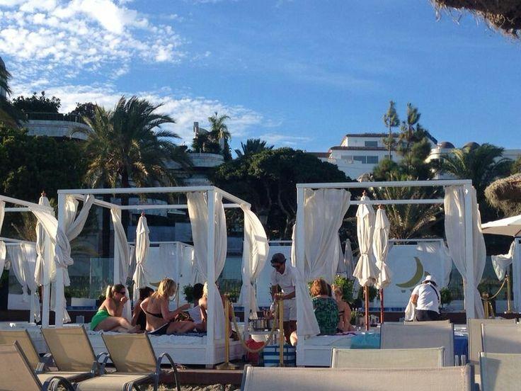 Plaza Beach Club in Marbella, Andalucía