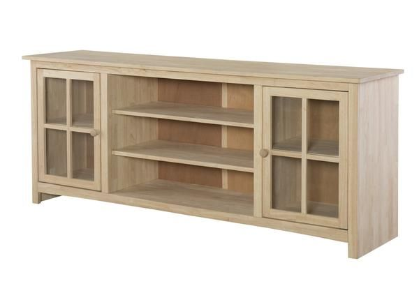 Abigail Hardwood Entertainment Stand 72 Entertainment Stand