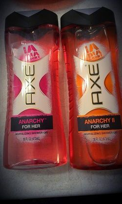 Enter to win the Axe Anarchy for Her and Anarchy for Her II Shower Gel at Reviews by Cole