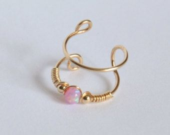 SALE Fake Piercing Tiny Double Wrap Ear CuffNo by Benittamoko