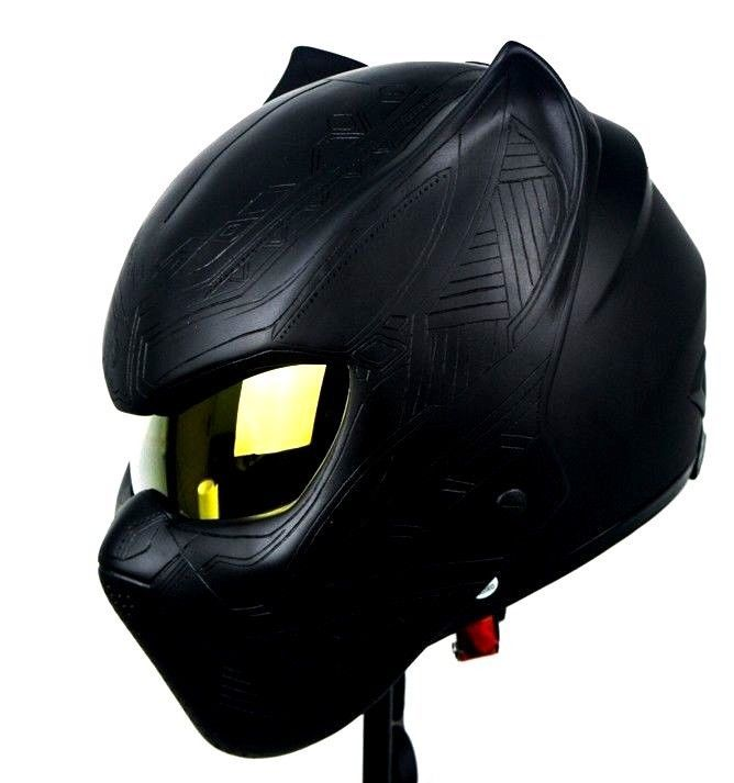 Hot Black Panther Cool Mask Costume Role Play Adults Avengers Super Hero Helmet