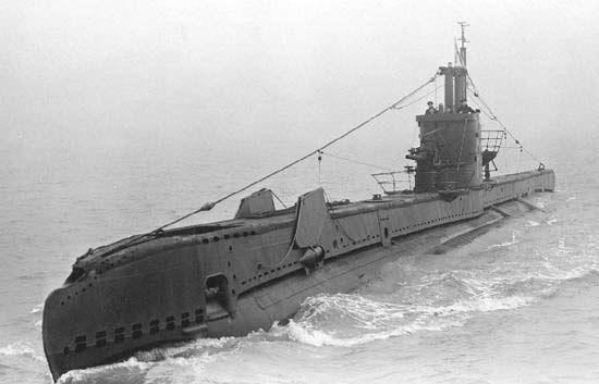 HMS Simoom (P 225) of the Royal Navy - British Submarine of the S class - Allied…