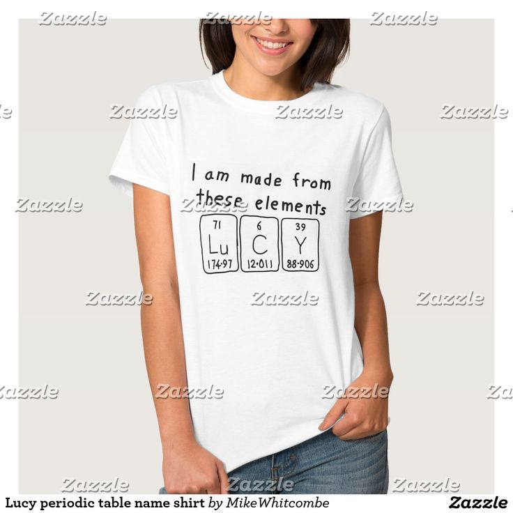 Lucy periodic table name shirt