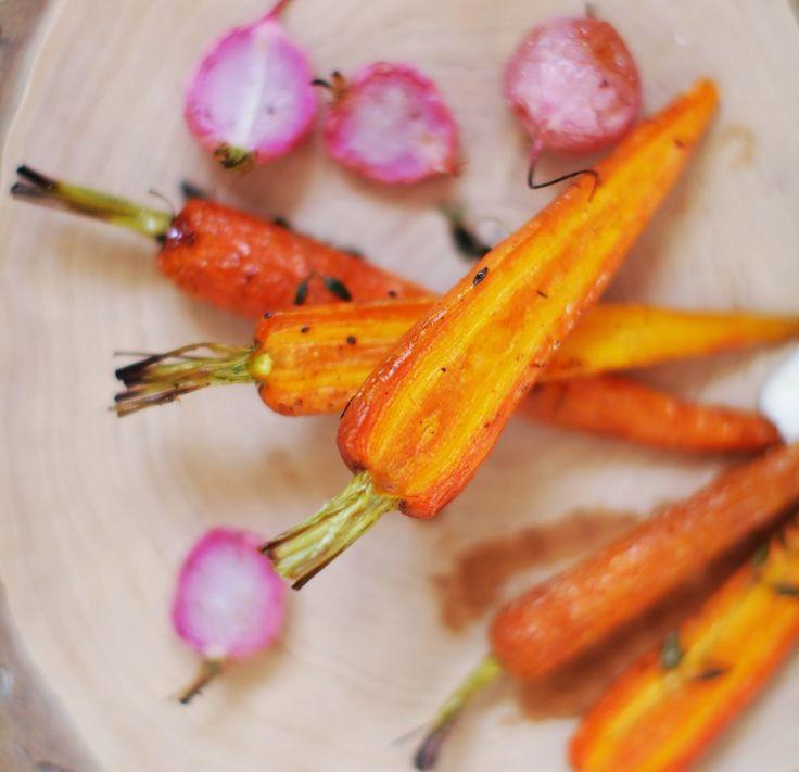 Pieczone wiosenne warzywa