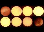 Espectáculo espacial de Venus y el Sol