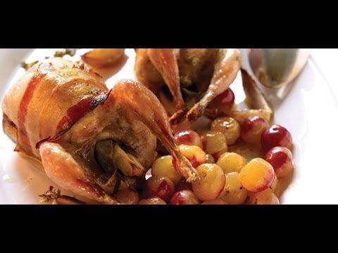 Recette : les cailles farcies au raisin de Jean-Michel - Les carnets de Julie - YouTube