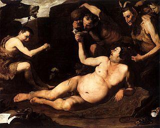 José de Ribera - Sileno ebrio, 1626. Museo de Capodimonte, Nápoles.