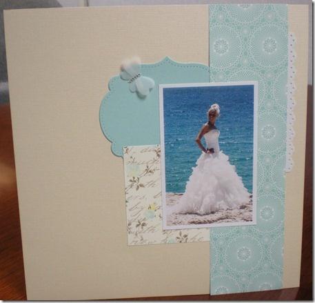 Simple Wedding Scrapbook page