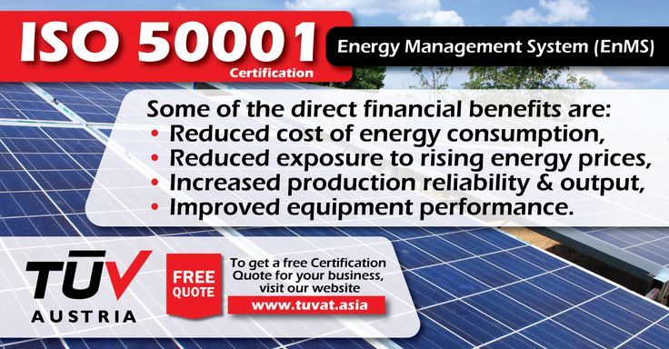 Reduce cost of energy consumption with ISO 50001 Certification. For further queries how we can assist you: tuvat.asia/get-a-quote, or call Pakistan: +92 (42) 111-284-284 | Bangladesh +880 (2) 8836404 | Sri Lanka +94 (11) 2301056 to speak with a representative. #ISO #TUV #certification #inspection #pakistan #bangladesh #srilanka #lahore #karachi #colombo #dhaka #iso50001