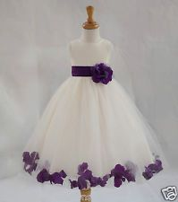 Girls Purple Bridesmaid Dresses | eBay