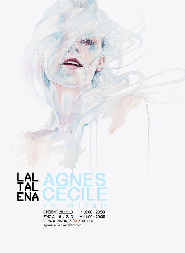 solo exhibition | agnes-cecile in milan by agnes-cecile