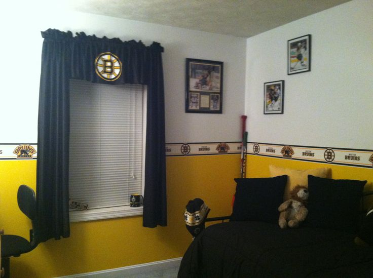 17 best images about boston bruins room ideas on Bruins room decor