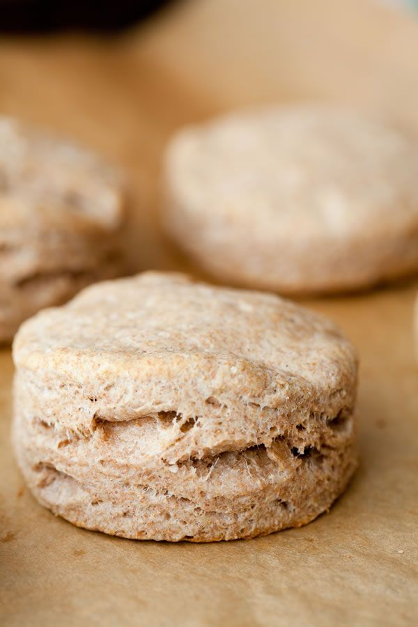 Homemade Whole Wheat Biscuits - These biscuits are so easy my nine-year-old can make them by herself! - 100 Days of Real Food