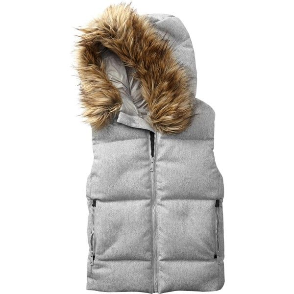 12 Stylish Puffer Coats to Get You Through the Winter. Fur-trim down puffer  vest - 41 Best Images About Snow Clothes On Pinterest Abercrombie Fitch
