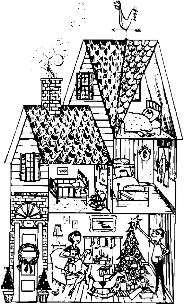 Houses to Color and Print for adults