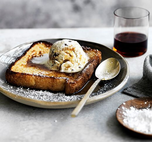 RECIPE: French Toast, Ice Cream & Maple Syrup