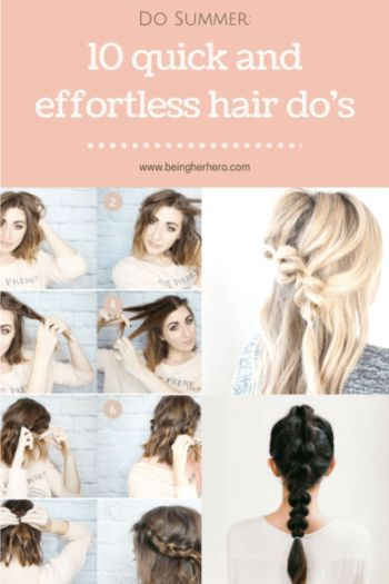 Quick and Easy Hair-do's//Chic style// No hairdryer!