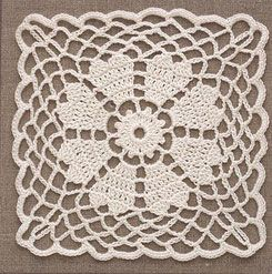 Four gorgeous lace flower motifs in squares for you to crochet! More Great Looks Like This