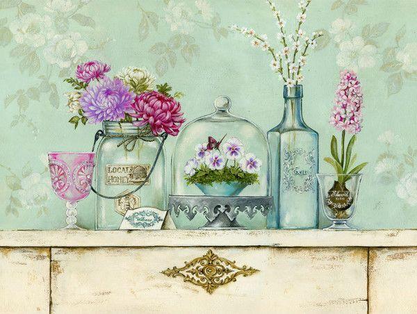 home sweet home bouquet pinterest peinture d corative botanique et peinture. Black Bedroom Furniture Sets. Home Design Ideas