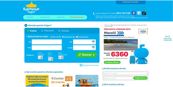 Submarino viajes http://www.submarinoviajes.com.ar/