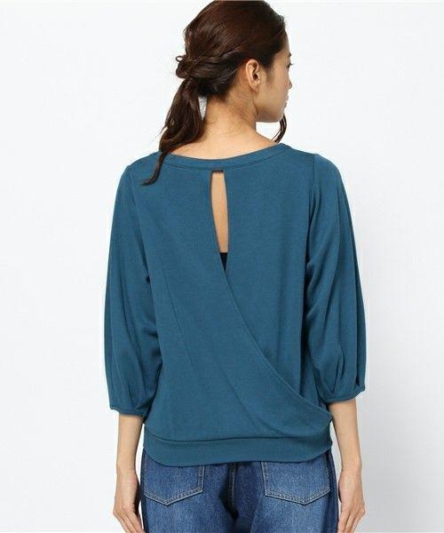 SHIPS for women casual(シップスフォーウィメンカジュアル)のバックカシュクールプルオーバー(Tシャツ/カットソー)|詳細画像