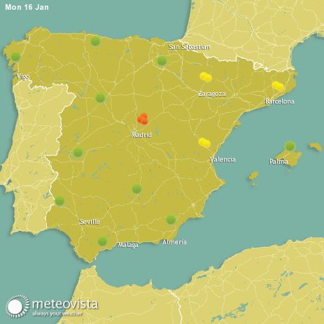 The extent to which patients suffer from hay fever, is highly dependent on weather conditions. On this page you can find the hay fever forecast for Spain
