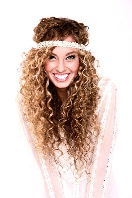 This girl has beautiful curls and great layers! curly hair with headband