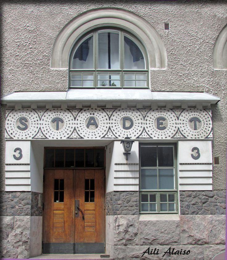 Door in Kruunuhaka, Helsinki by Aili Alaiso, Finland