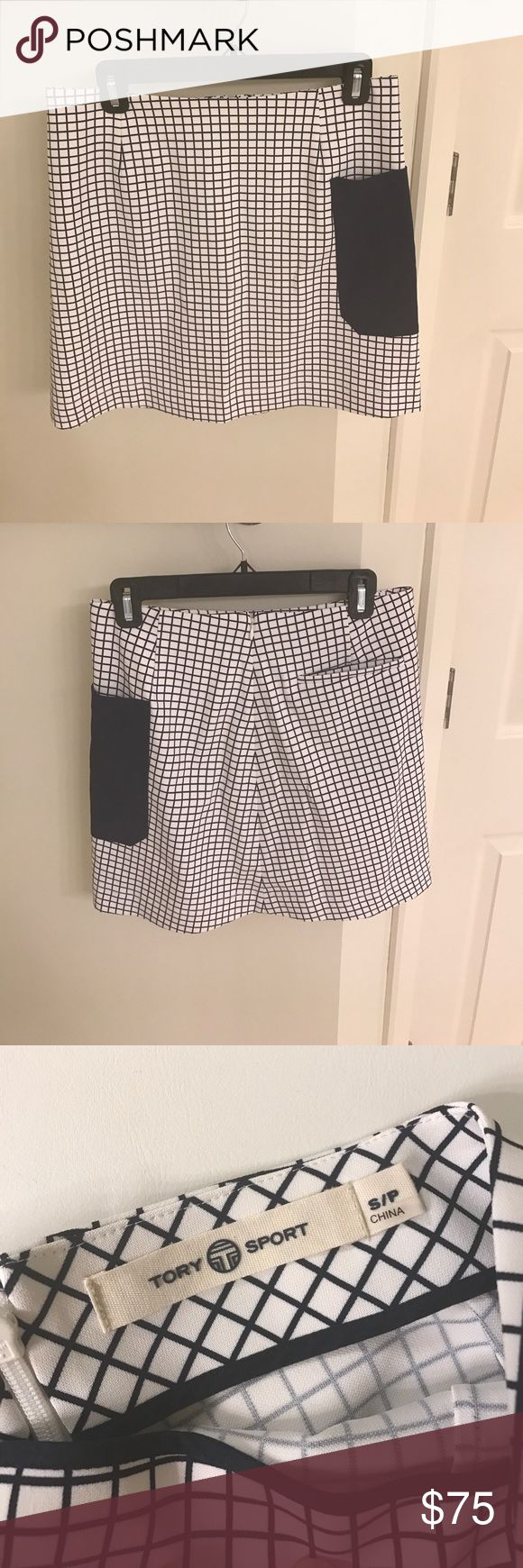 NWOT Tory Burch Tory Sport skirt size S/P NWOT Tory Sport golf skirt (could also be worn just as a miniskirt!)- navy & white, size S/P Tory Burch Skirts