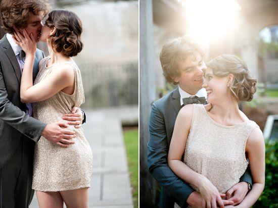 Jasmine and Patrick Vintage Glamour Engagement Photos