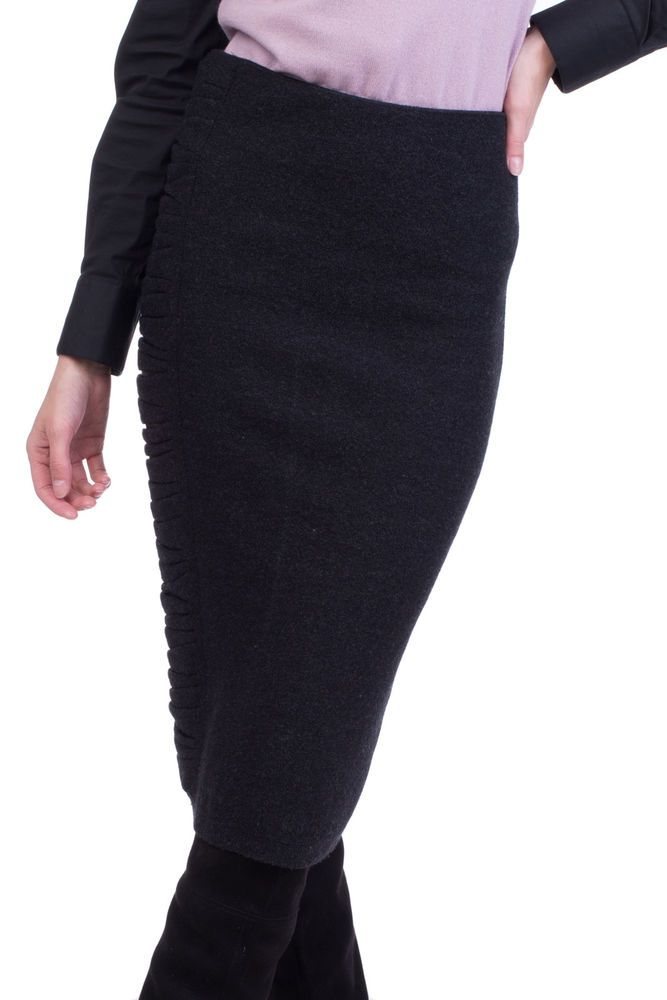 5a05ed5969 GENTRYPORTOFINO Wool Skirt Size IT 42 / S Leather Trim Made in Italy RRP  439 #fashion #clothing #shoes #accessories #womensclothing #skirts (ebay  link)