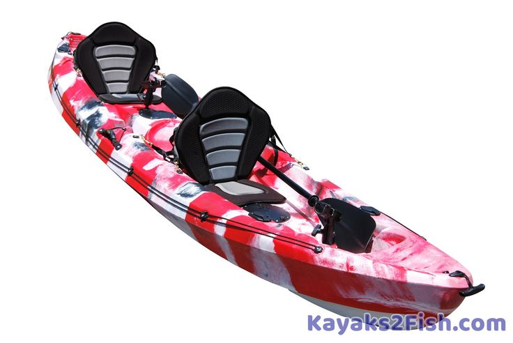 Tandem fishing kayak. I'd like one of those. Very nice!